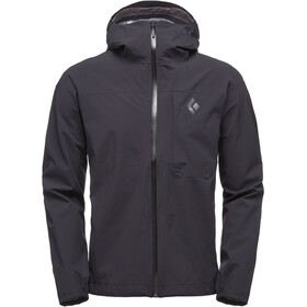 Black Diamond M's Fineline Stretch Rain Shell Jacket Black